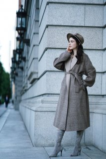 <img class='new_mark_img1' src='//img.shop-pro.jp/img/new/icons8.gif' style='border:none;display:inline;margin:0px;padding:0px;width:auto;' />Glencheck Wool Coat<br>[BROWN]