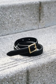 <img class='new_mark_img1' src='//img.shop-pro.jp/img/new/icons56.gif' style='border:none;display:inline;margin:0px;padding:0px;width:auto;' />Haircalf Square Buckle Belt<br>[BLACK]