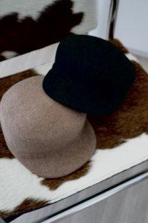 Wool Casquette<br>[BLACK/BEIGE]
