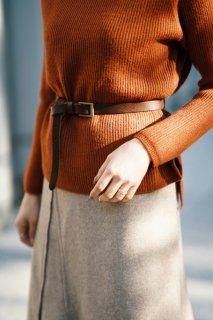 <img class='new_mark_img1' src='//img.shop-pro.jp/img/new/icons56.gif' style='border:none;display:inline;margin:0px;padding:0px;width:auto;' />Basic Leather Buckle Belt<br>[BROWN]