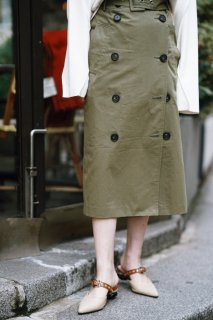 I-line trench Skirt<br>[KHAKI]