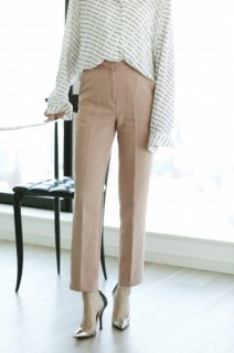 Center Press Pants<br>[WHITE,PINK・S/M]