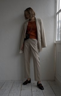 Check Pants Set-up<br>[IVORY/S,M]