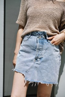 <img class='new_mark_img1' src='//img.shop-pro.jp/img/new/icons8.gif' style='border:none;display:inline;margin:0px;padding:0px;width:auto;' />Remake LikeDenim Skirt<br>[BLUE,S/M]