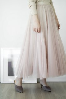 <img class='new_mark_img1' src='//img.shop-pro.jp/img/new/icons8.gif' style='border:none;display:inline;margin:0px;padding:0px;width:auto;' />Tulle Docking Long Skirt<br>[PINKBEIGE]