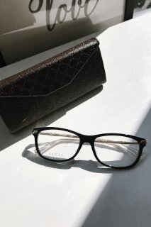 <img class='new_mark_img1' src='//img.shop-pro.jp/img/new/icons8.gif' style='border:none;display:inline;margin:0px;padding:0px;width:auto;' />GUCCI<br>Gold Bamboo Rectangular Eyeglasses