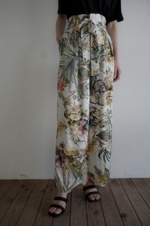 tropical wide pants<br>[WHITE]