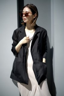 sheer tailored jacket<br>[BLACK]