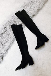 <img class='new_mark_img1' src='https://img.shop-pro.jp/img/new/icons8.gif' style='border:none;display:inline;margin:0px;padding:0px;width:auto;' />Suede Knee-high Boots<br>[S,M,L]