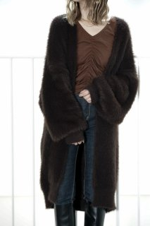 Mohair Over Cardigan<br>[BROWN]