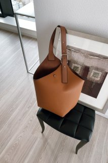 Belt Design Tote-bag<br>[CAMEL]
