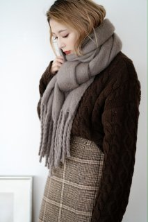 Mohair Touch Volume Stall<br>[BROWN]