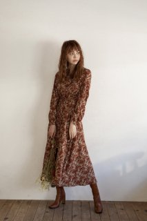 Back Open Flower Long One-piece<br>[ORANGE]