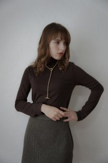 Wool Lining Turtle-neck P/O<br>[WHITE/BROWN]