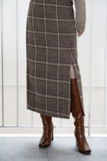 <img class='new_mark_img1' src='https://img.shop-pro.jp/img/new/icons8.gif' style='border:none;display:inline;margin:0px;padding:0px;width:auto;' />Check Tight Skirt<br>[S/M]