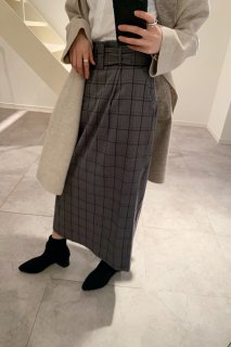 <img class='new_mark_img1' src='https://img.shop-pro.jp/img/new/icons38.gif' style='border:none;display:inline;margin:0px;padding:0px;width:auto;' />Belted Check Skirt<br>[GREY][SAMPLE]