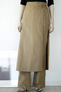 <img class='new_mark_img1' src='https://img.shop-pro.jp/img/new/icons8.gif' style='border:none;display:inline;margin:0px;padding:0px;width:auto;' />Wrap Design Pants<br>[KHAKI]