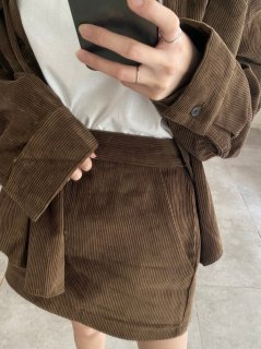 <img class='new_mark_img1' src='https://img.shop-pro.jp/img/new/icons38.gif' style='border:none;display:inline;margin:0px;padding:0px;width:auto;' />Corduroy skirt<br>[BROWN][SAMPLE]
