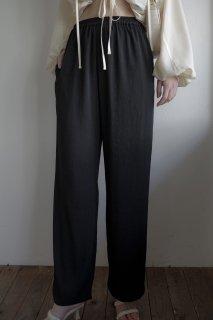 Cozy Straight Pants<br>[IVORY/BLACK]