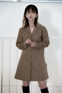 <img class='new_mark_img1' src='https://img.shop-pro.jp/img/new/icons8.gif' style='border:none;display:inline;margin:0px;padding:0px;width:auto;' />Open Callar Shirt One-piece<br>[BROWN/BLACK]
