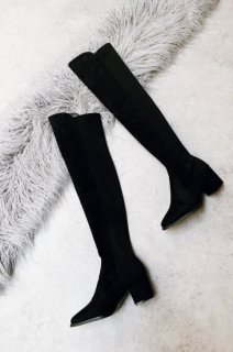 <img class='new_mark_img1' src='https://img.shop-pro.jp/img/new/icons38.gif' style='border:none;display:inline;margin:0px;padding:0px;width:auto;' />Suede Knee-high Boots<br>[L][B品]