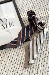 square print scarf<br>[WHITE][B品]