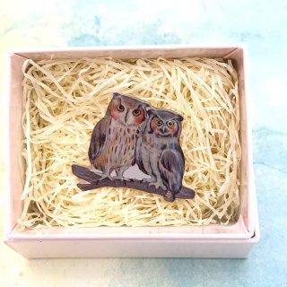 kaori-art 箱付きブローチ ワシミミペア