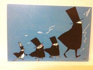 SocksOwl ポストカード  紳士たち