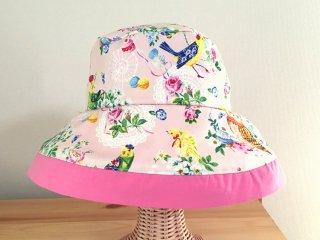 Chiara ふくろう クロッシェ帽子 ピンク