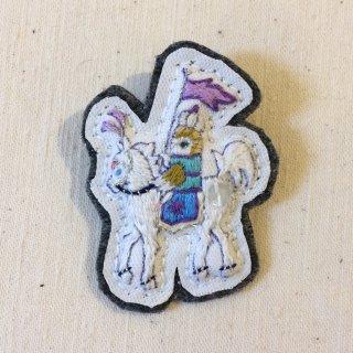 eme 刺繍ブローチ 白馬に乗るホーちゃん