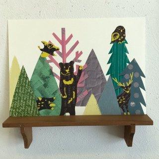 aya yonezawa A4ポスター 森の動物たち
