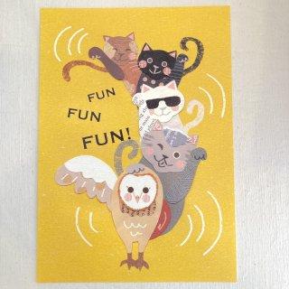 aya yonezawa A4ポスター 猫フクロウ