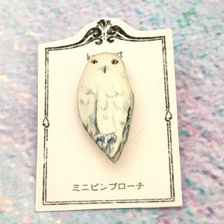 kaori-art ミニピンバッチ シロフクロウ