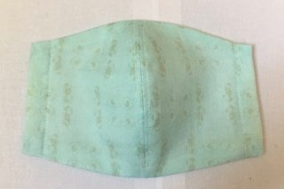 himitsu 立体布マスク 内側リネン素材 S/M/Lサイズ 女性用普通/ちょっと大きめ/大きい (上向きメン水色)