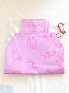 Ko-chan's×奥谷ファブリック ゆるホーブーマスクホルダー ピンク
