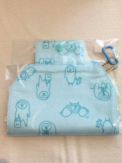 Ko-chan's×奥谷ファブリック ゆるホーブーマスクホルダー ブルー