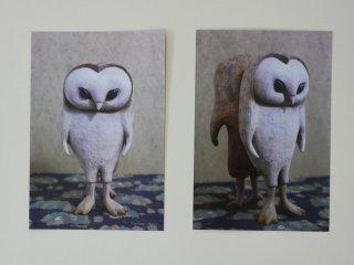 木とまめ舎 ポストカードサイズブロマイド(Yin Yang・HOO)
