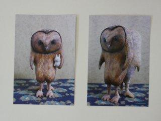 木とまめ舎 ポストカードサイズブロマイド(Yin Yang・BOO)