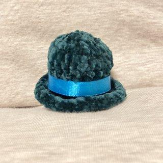 suiren ミニ帽子シルクハット風 中 緑/緑