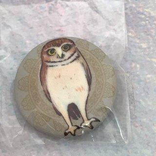 kaori-art バッジ フクロウ