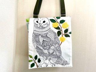 Chiara OWL 縦長ショルダーバッグ  線画ふくろう(刺繍)