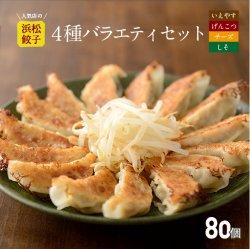 【行列店の浜松餃子】いえやす餃子4種を一度に楽しめる4種バラエティーセット【80個】贈答用