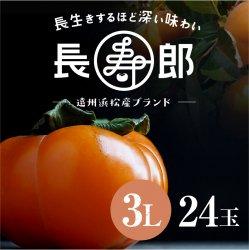 【遠州浜北大平産】 長寿郎次郎柿【秀品3L・24玉】【送料無料】