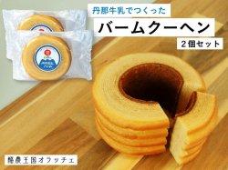 丹那牛乳バームクーヘン 大 2個セット 【送料無料】
