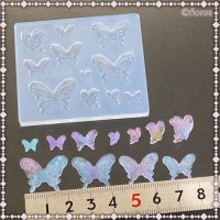 ソフトモールド C-634 ぷっくり蝶々
