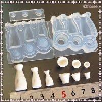 ソフトモールド C-663 酒器セット(とっくり&おちょこ Sake Set)