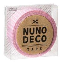 ヌノデコテープ ももいろチェック