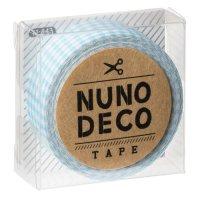 ヌノデコテープ みずいろチェック