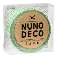 ヌノデコテープ みどりチェック