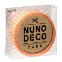 ヌノデコテープ だいだいチェック